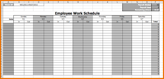 Monthly Employee Work Schedule Template Excel Work Schedule Template Free Employee Work Schedule Template Png