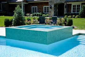 Unique Pool Ideas by Beautiful Blue Glass Wood Modern Design Pools House Inside Wall