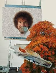 Meme Painting - bob ross painting meme guy