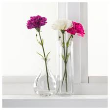 smycka artificial flower carnation white 30 cm ikea