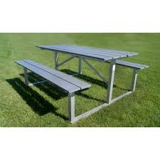 Poly Picnic Tables by 6 U0027 Heavy Duty Aluminum Picnic Tables With Perma Poly Surfaces