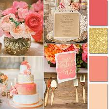 wedding invitation cards coral and gold wedding invitations