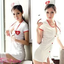womens nurse cosplay uniform lingerie fancy costume dress hat