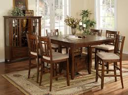 kitchen table oak bar height kitchen table sets on nice classic square brown oak