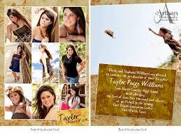 senior graduation invitations high school graduation announcements artisan photography high