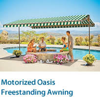 Motorized Awning Reviews For Sunsetter Oasis Free Standing Awning