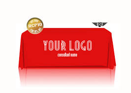 Logo Table Cloth by Consultant Custom Printed Red Tablecloth Branded Tablecloth