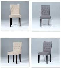 Upholstered Linen Dining Chairs Tufted Back Dining Chair U2013 Nycgratitude Org