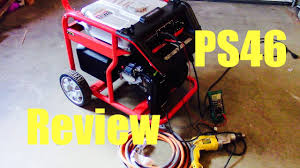 powersmart ps46 generator review youtube