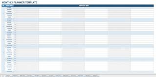 Monthly Planning Calendar Template Excel Free Calendar Templates Smartsheet