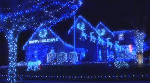 blue christmas lights blue christmas lights in quantities on this home blue
