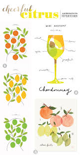cheerful citrus themed art prints for your kitchen or dining room