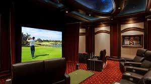 Home Theater Architecture Elan Transforms A Golf Simulator Game Room Into A Home Theater