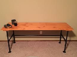 wood desk 3 steps