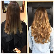 extensions for hair before and after balayage hair painting and 20 fusion extensions