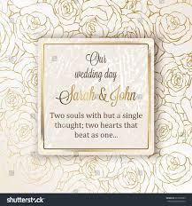 intricate baroque luxury wedding invitation card stock vector