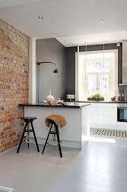 ideas for small kitchens interior brick wall accent also cool kitchen design idea small