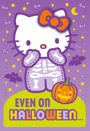 hello kitty cute is always in style halloween card with barrette