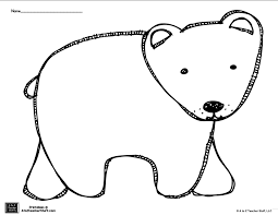brown bear polar bear coloring pattern free printable