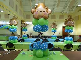 large custom centerpiece for a monkey themed baby shower chainimage