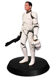 white clone trooper deluxe statue