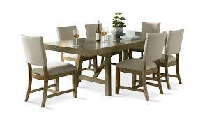 omaha grey dining table with 4 upholstered side chairs hom