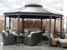 Costco Resin Wicker Patio Furniture Decor Costco Pergola With Roof And Wicker Patio Furniture Set