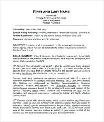 resume format for government government resume template resume sle government