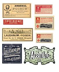 vintage poisons halloween bottles u0026 free printables