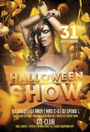 free halloween party flyer templates free halloween show flyer template awesomeflyer com