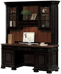 Small Hutch For Desk Top Furniture Create A Home Office In A Small Space With Credenza