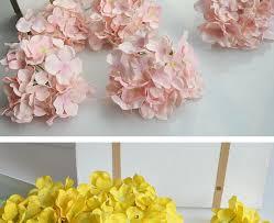 Silk Wedding Flowers Luyue 20pcs Wedding Decoration Hydrangea Flower Heads15cm
