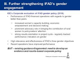 Rural Finance In Selected Ifad Financed Operations Dr Ifad S Policy On Gender Equality And S Empowerment Ppt