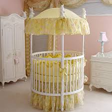 yellow butterfly round baby bedding and nursery necessities in