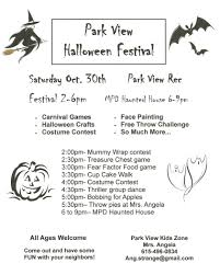 parks and rec halloween park view rec center has full day of halloween fun u2014 saturday 10