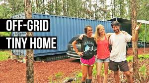 living in a shipping container in hawaii off grid tiny home