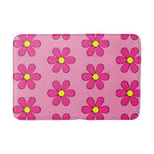 Retro Bathroom Rugs Pink Rug Bath Mats U0026 Rugs Zazzle