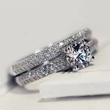 wedding ring set for promise rings set for women wedding rings eternity 1 carat cubic