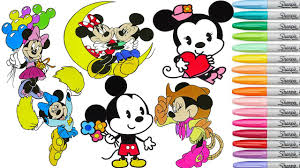coloring minnie mouse mickey mouse coloring book page rainbow