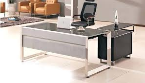 Modern Glass Office Desks Glass Office Desk Modern Glass Top Office Table Design With Wooden