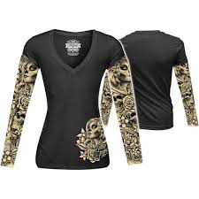 women s tattoo sleeve designs lethal threat womens tattoo sleeve shirt shirts clothing