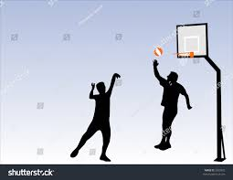 illustration people playing basketball stock vector 2839502