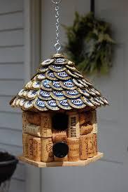 miller lite cap u0026 wine cork bird house by tikicommander on etsy