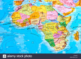 World Map Africa by Africa Oldest Continent On The World Map Stock Photo Royalty