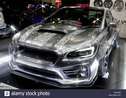 subaru wrx custom chiba japan 13th jan 2017 a subaru wrx sti vehicle decorated