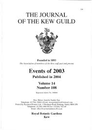 the journal of the kew guild events of 2003 by kew guild journal
