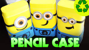 back to crafts minions pencil case youtube
