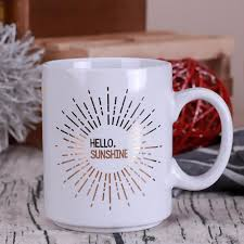 wholesale hello sunshine style ceramic mugs big moring mug milk or