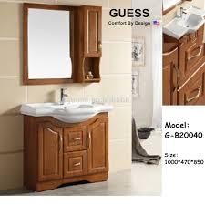 Solid Wood Bathroom Cabinet Waterproof Bathroom Cabinet Solid Wood Bathroom Vanity G B20166