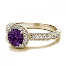 18ct white gold diamond amethyst engagement rings amazing engagement rings with amethyst jewelry